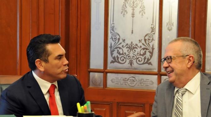 Trabajo coordinado del gobernador de Campeche y Presidente de Conago con el secretario de Hacienda