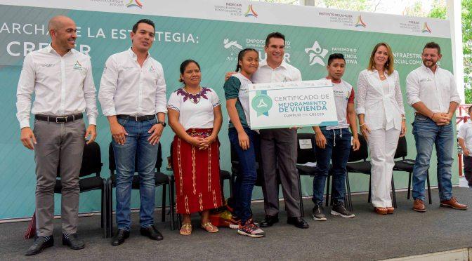 Gobernador de Campeche inicia estrategia que invertirá más de 233 mdp para abatir rezagos sociales