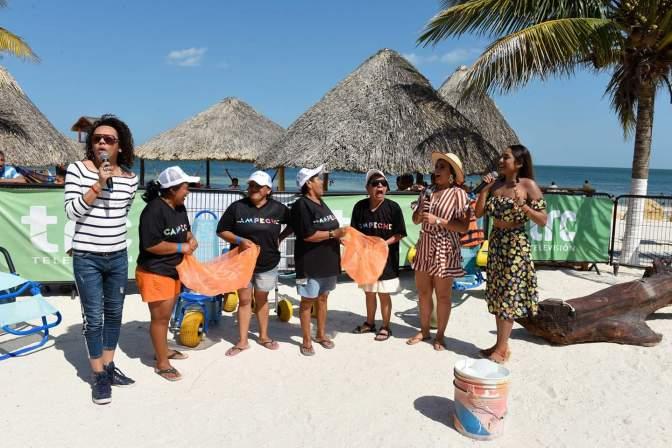 Difunden acciones del gobierno de Campeche desde Playa Bonita