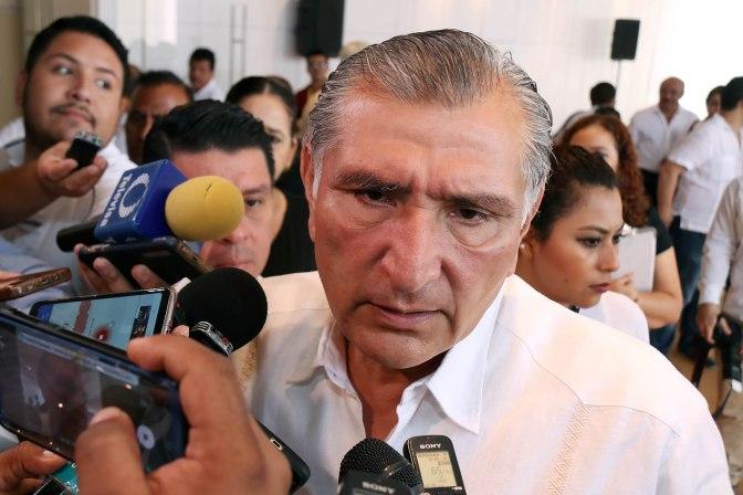 Reafirma Adán Augusto compromiso para recuperar la paz social en Tabasco