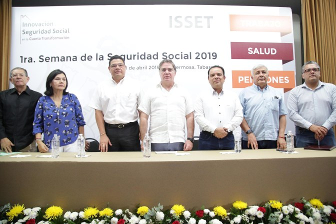 Trabajar para dar viabilidad a seguridad social en Tabasco: Medina Filigrana