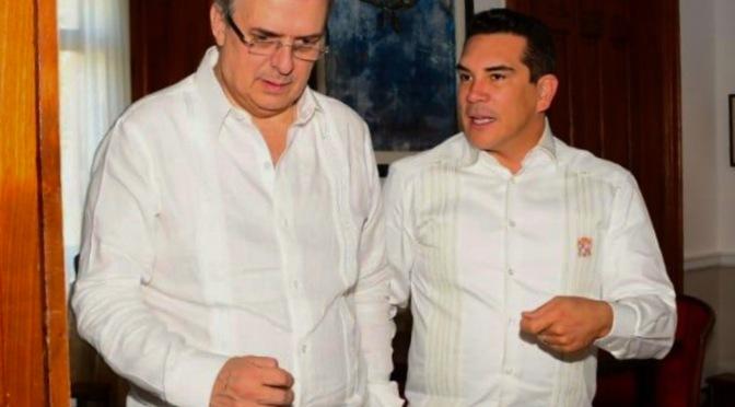 El gobernador y Presidente de la Conago, Alejandro Moreno, encabeza reunión de trabajo con el titular de Relaciones Exteriores