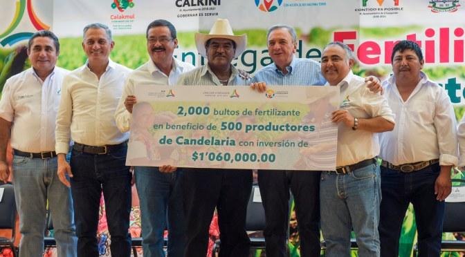 Inicia entrega de 97 mil bultos de fertilizantes para 18 mil productores maiceros de Campeche