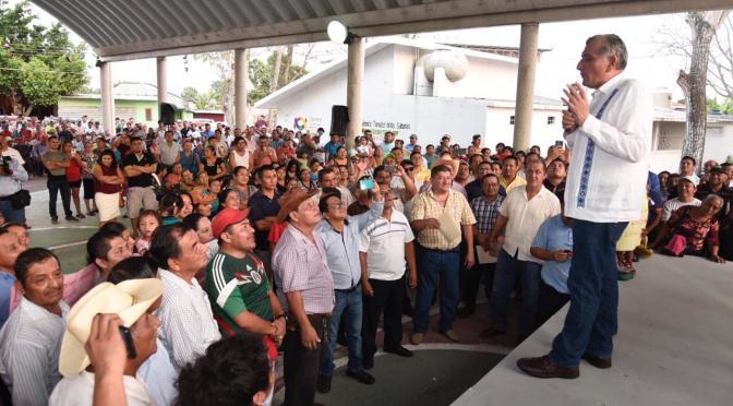 Dialoga Gobernador con pueblo Yokot´an sobre alcances del convenio 'Adiós a tu deuda'