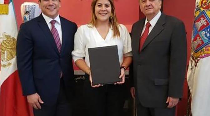 Designa el gobernador Alejandro Moreno a Adriana Ortega como titular de la representación de Campeche en la CDMX