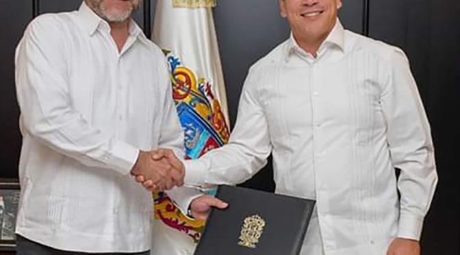 El gobernador de Campeche  nombró como jefe de la Unidad de Comunicación Social  a Carlos Medina Hernández