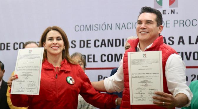 Recibe Alejandro Moreno Cárdenas constancia de registro como candidato a la dirigencia nacional del PRI