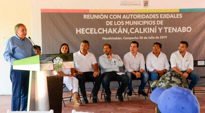 Garantiza gobernador Carlos Miguel Aysa González respaldo a autoridades ejidales del norte del Estado para impulsar desarrollo