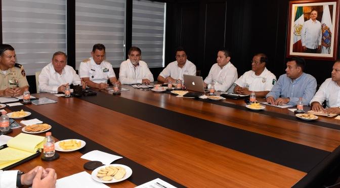 Encabeza gobernador Carlos Miguel Aysa González reunión de seguridad con autoridades de tres órdenes de gobierno