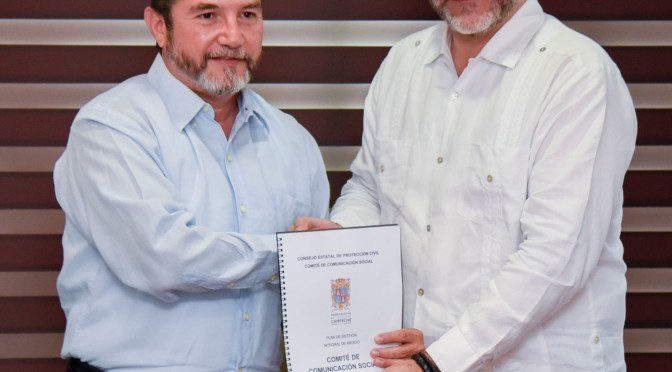 Instalan Comité de Comunicación Social de Protección Civil de Campeche