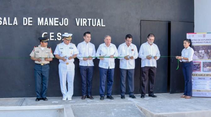 Entrega el gobernador de Campeche, Carlos Miguel Ayza González, moderna infraestructura policial para profesionalización de elementos