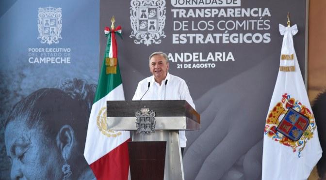Garantiza el gobernador Carlos Miguel Aysa González trabajo permanente para consolidar ambiente de paz y armonía de Campeche