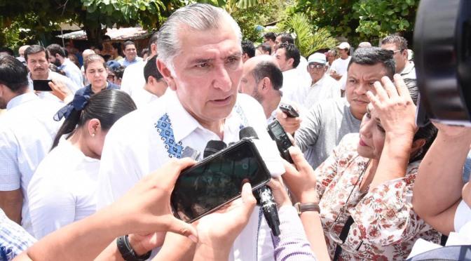 Se equivocan relatores de la ONU en contenido de reforma penal de Tabasco, considera el gobernador Adán Augusto López Hernández