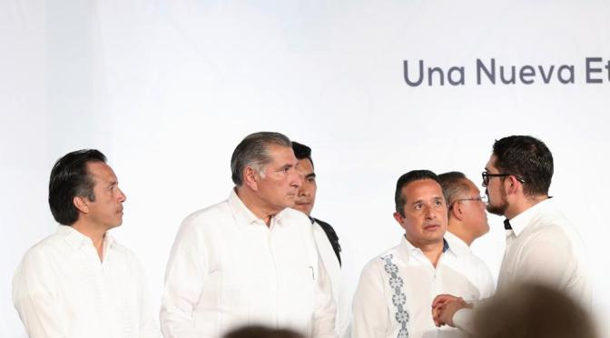 Firma Adán Augusto Pacto Oaxaca para impulsar el crecimiento del Sur-Sureste