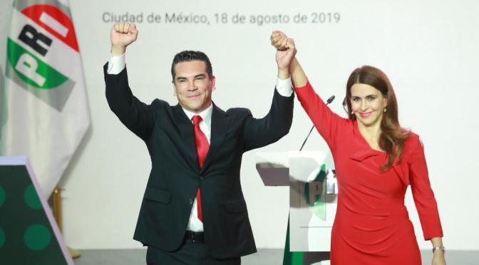 Alejandro Moreno rinde protesta como dirigente nacional del PRI