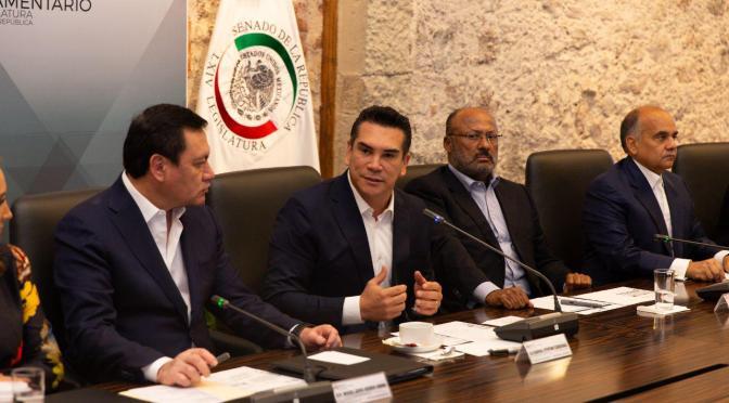 El PRI y sus senadores trabajarán en equipo, por una agenda moderna, de vanguardia y progresista: Alejandro Moreno Cárdenas