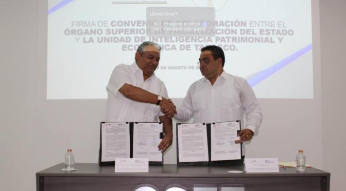 Signan UIPE y OSFE convenio de colaboración e intercambio de información