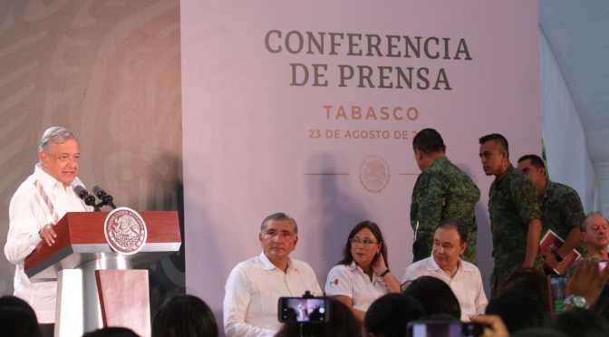 Toda nuestra confianza al gobierno de Adán Augusto: López Obrador