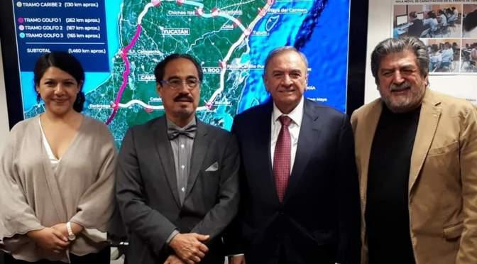 Gobernador de Campeche y titular de Fonatur dan seguimiento al Proyecto del Tren Maya